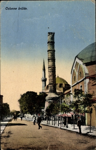 Ak Konstantinopel Istanbul Türkei, Colonne brûlée