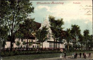 Ak Düsseldorf am Rhein, Düsseldorfer Ausstellung, Festhalle, Außenansicht