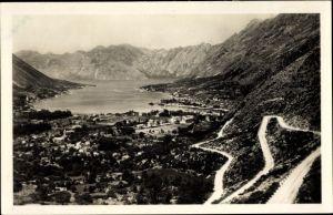 Ak Kotor Cattaro Montenegro, Weg auf den Lovcen