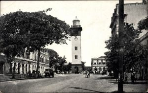 Ak Colombo Ceylon Sri Lanka, View of Queen Street from Galle Face end