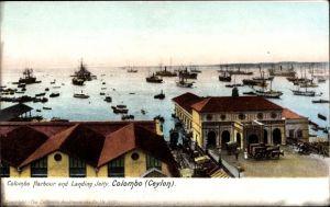 Ak Colombo Ceylon Sri Lanka, Harbour, Landing Jetty