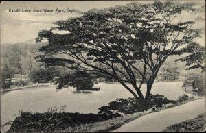 Ak Kandy Sri Lanka Ceylon, Kandy Lake from Wace Park