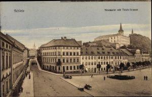 Ak Schleiz im Vogtland Thüringen, Neumarkt, Teichstraße