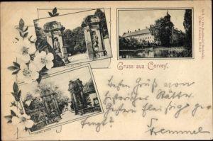 Ak Höxter in Nordrhein Westfalen, Kloster Corvey, Außenansicht, Eingangstor