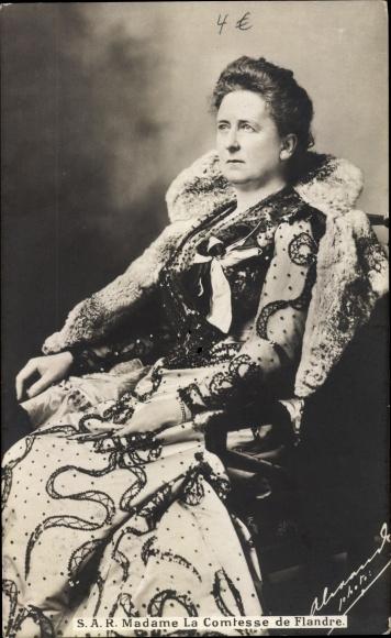Ak Madame la Comtesse de Flandre, Maria Luise von Hohenzollern Sigmaringen