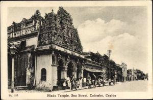 Ak Colombo Ceylon Sri Lanka, Hindu Temple, Sea Street