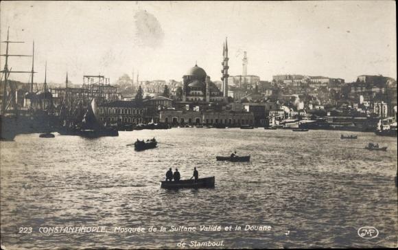 Ak Konstantinopel Istanbul Türkei, Mosquée de la Sultane Validé et la Douane de Stamboul