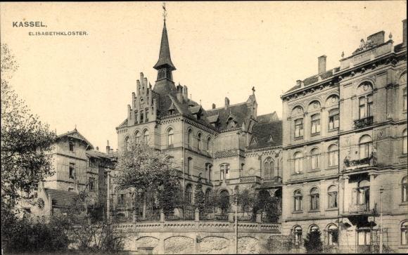 Ak Kassel in Hessen, Elisabethkloster, Außenansicht