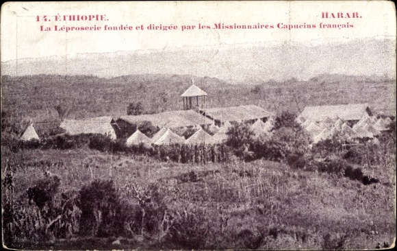Ak Harar Äthiopien, La Leproserie dirigee par les Missionnaires Capucins, Leprastation