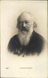 Ak Johannes Brahms, Deutscher Komponist, Portrait