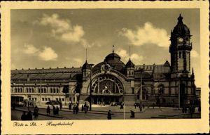 Ak Köln am Rhein, Hauptbahnhof, Außenansicht, Fußgänger