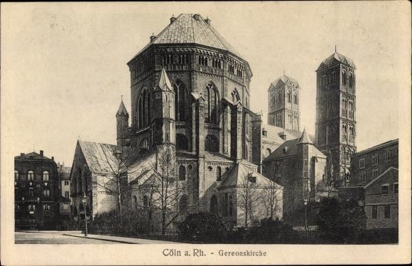 Ak Köln am Rhein, Gereonskirche, Außenansicht