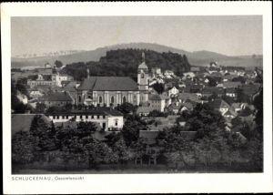 Ak Šluknov Schluckenau Region Aussig, Gesamtansicht