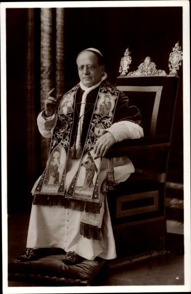 Ak Papst Pius XI., Achille Ambrogio Damiano Ratti, Portrait