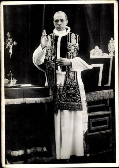 Ak Papst Pius XII., Eugenio Maria Giuseppe Giovanni Pacelli