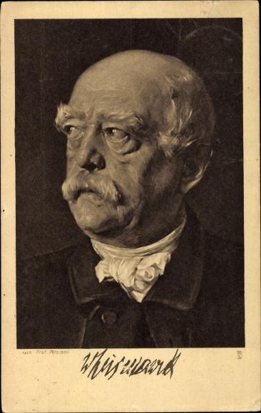Künstler Ak Petersen, Otto von Bismarck, Herzog zu Lauenburg, Deutscher Ostmarken Verein