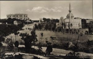 Ak Konstantinopel Istanbul Türkei, Palais Yildiz et Mosquée Hamidié