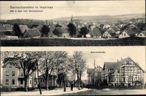 Ak Benneckenstein Oberharz am Brocken, Bahnhofstraße, Ortschaft