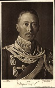 Ak Kronprinz Wilhelm von Preußen, Portrait, Husarenuniform, Liersch