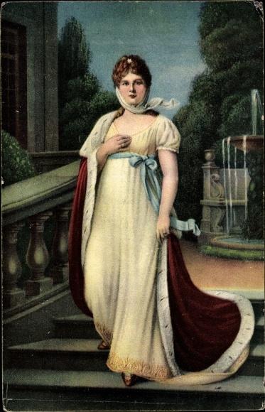 Künstler Ak Lotzmann, Karl, Königin Luise von Mecklenburg Strelitz, Luise von Preußen, Standportrait