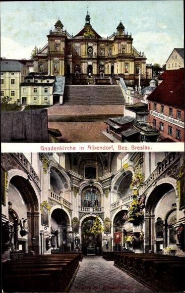 Ak Wambierzyce Albendorf Schlesien, Gnadenkirche