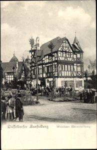 Ak Düsseldorf am Rhein, Weinhaus Hütwohl-Steeg, Ausstellung