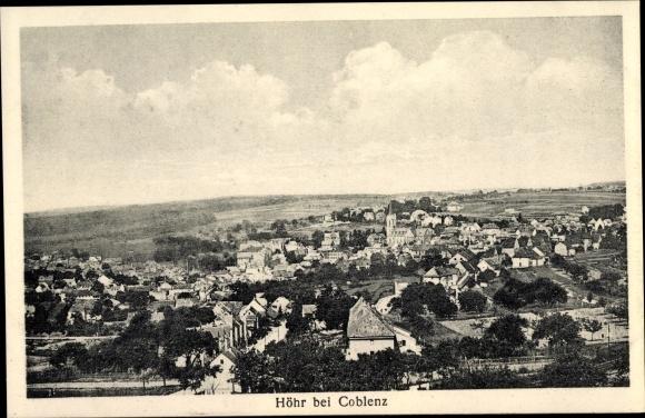 Ak Höhr Grenzhausen im Westerwaldkreis, Ortsansicht