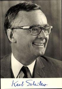 Ak Dr. Karl Schiller, Bundesminister für Wirtschaft, SPD