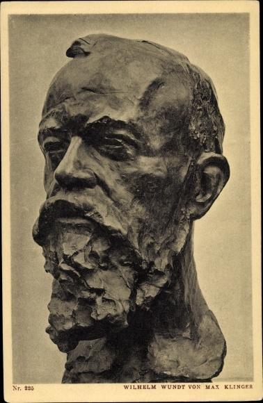 Ak Plastik von Max Klinger, Psychologe und Philosoph Wilhelm Wundt