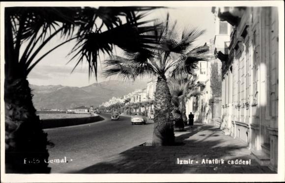 Foto Ak Smyrna Izmir Türkei, Atatürk caddesi
