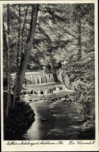Ak Adelsheim im Neckar Odenwald Kreis, Der Wasserfall