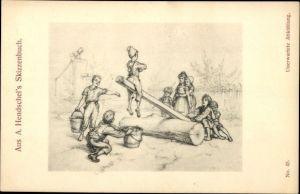 10 alte Ansichtskarten Albert Hendschel, Diverse Motive