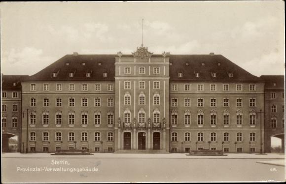 Ak Szczecin Stettin Pommern, Provinzial Verwaltungsgebäude