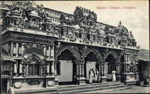 Ak Colombo Ceylon Sri Lanka, Hindu Temple