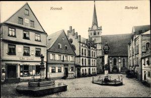 Ak Kronach im Frankenwald Bayern, Marktplatz