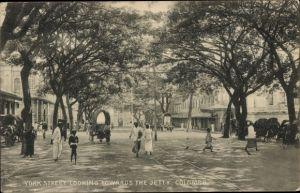 Ak Colombo Ceylon Sri Lanka, York Street looking towards the jetty
