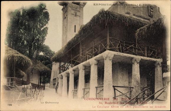 Ak Dahomey Benin, Tempelanlage