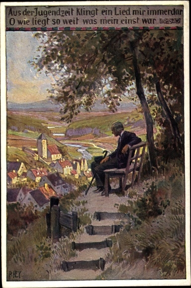 Künstler Ak Hey, Paul, Aus der Jugendzeit, Volksliederkarte Nr. 69, Novitas 734 a