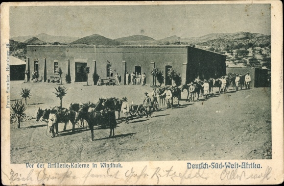 Ak Windhuk Deutsch Südwestafrika Namibia, Artilleriekaserne