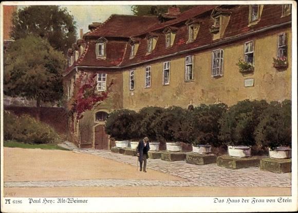 Künstler Ak Hey, Paul, Das Haus der Frau von Stein, Ackermann 6186