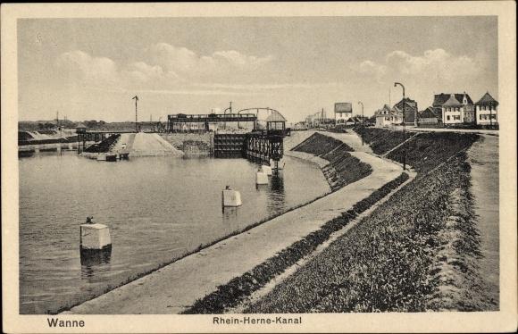 Ak Wanne Eickel Herne im Ruhrgebiet, Rhein Herne Kanal