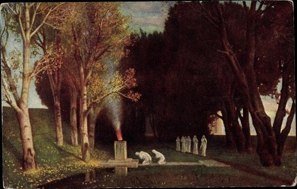 Künstler Ak Böcklin, Arnold, Der heilige Hain