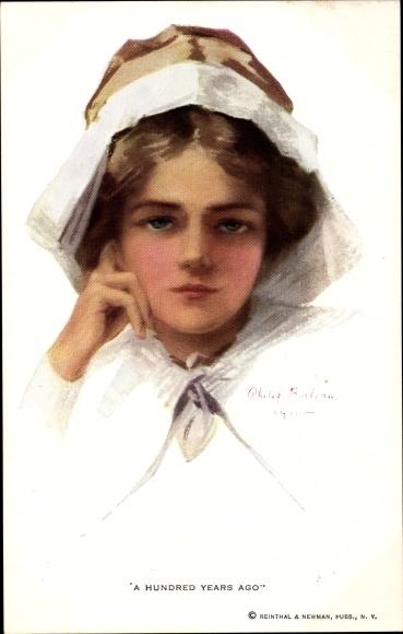 Künstler Ak Boileau, Philip, A Hundred Years Ago, Frauenportrait
