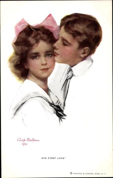 Künstler Ak Boileau, Philip, His first love, junges Paar
