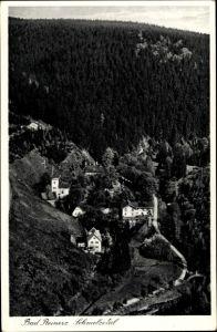 Ak Duszniki Zdrój Bad Reinerz Schlesien, Panorama vom Ort u. Schmelzetal