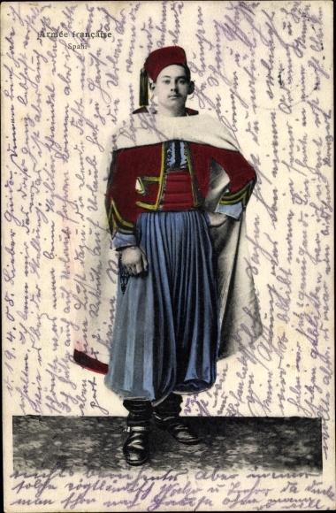 Ak Armée francaise, Spahi, französischer Soldat