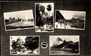 Ak Rio de Janeiro Brasilien, Jardim Gloria, Balneario da Urca, Hotel Central, Botafogo
