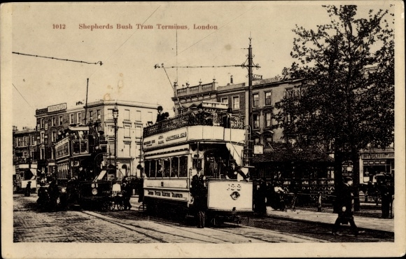 Ak London City, Shepherds Bush Tram Terminus