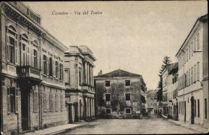 Ak Cormòns Friuli Venezia Giulia, Via del Teatro