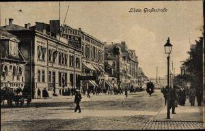 Ak Liepaja Libau Lettland, Großestraße